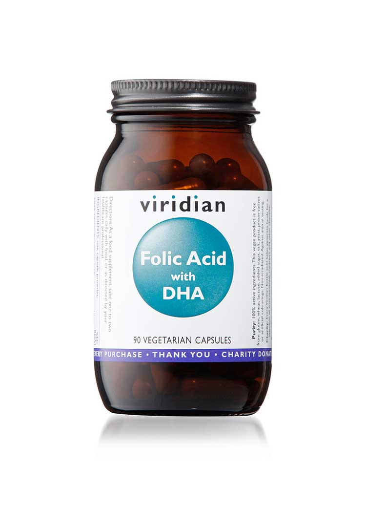 Folic Acid with DHA Veg 90 Caps