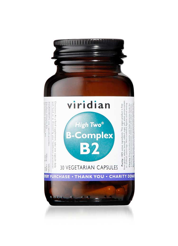 HIGH TWO™ Vitamin B2 with B-Complex Veg 30 Caps