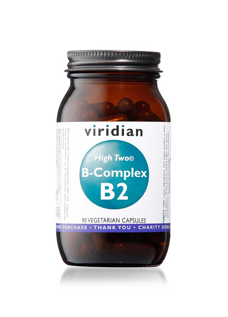 HIGH TWO™ Vitamin B2 with B-Complex Veg 90 Caps