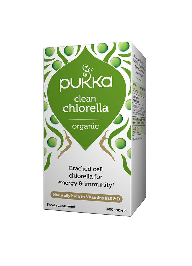Clean Chlorella - 400 Tablets Organic